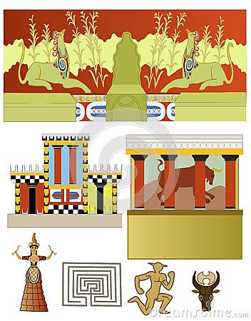 Minoan Stock Illustrations.