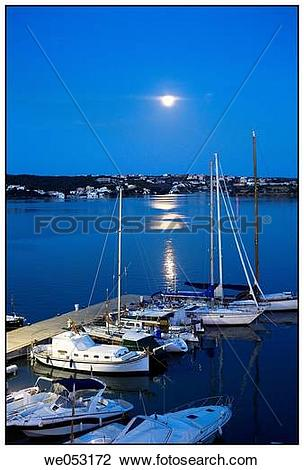 Stock Photo of Port of Mah?n, Minorca, Balearic Islands, Spain.