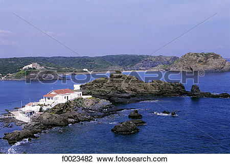 Stock Photo of Spain, Balearic Islands, Minorca, Cala Mesquida.