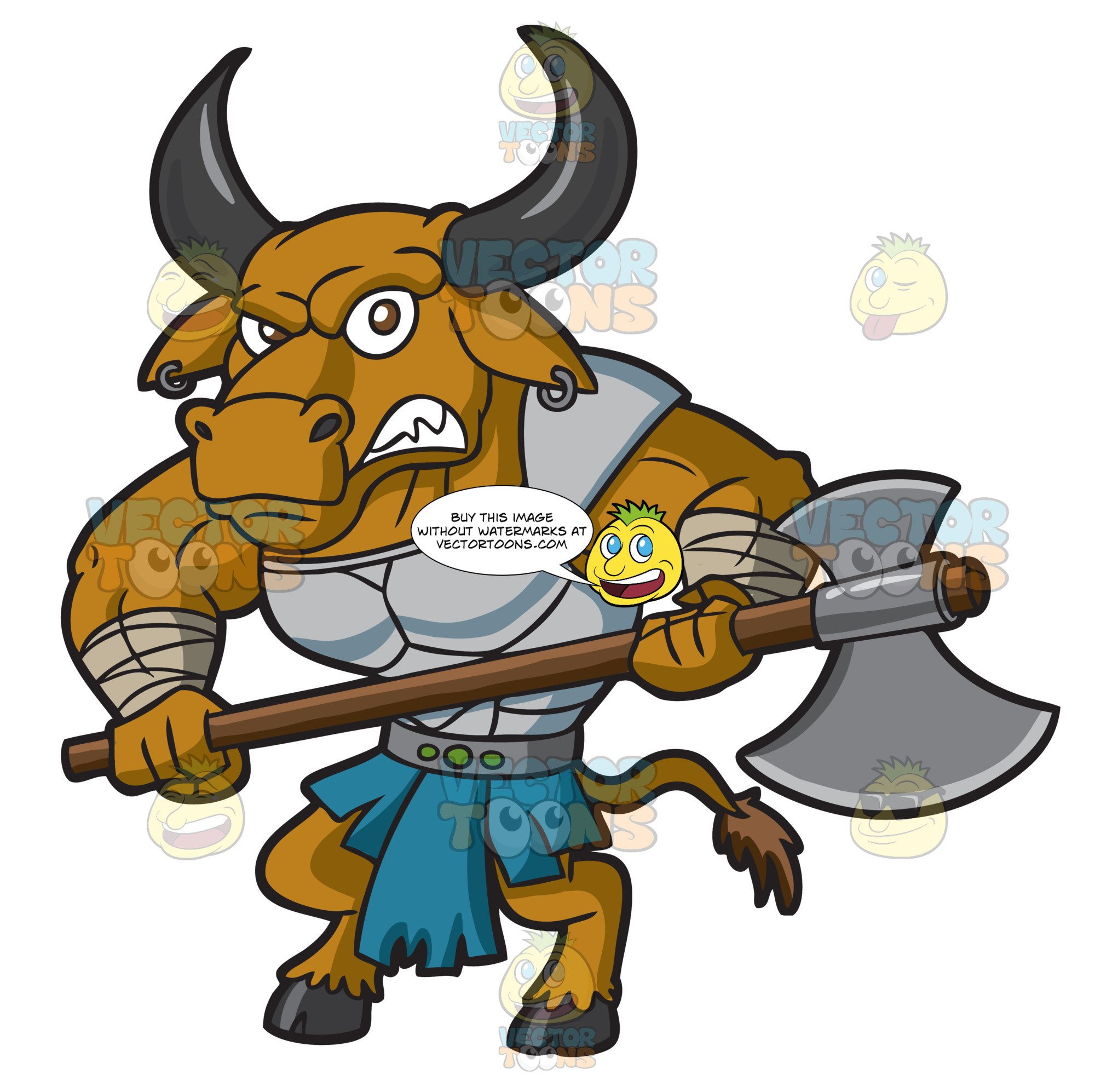 A Furious Minotaur Warrior Guard.