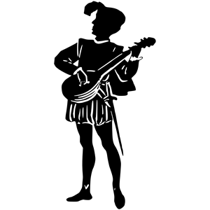 Minstrel silhouette clipart, cliparts of Minstrel silhouette free.