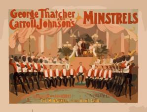 George Thatcher And Carroll Johnson S Minstrels Clip Art at Clker.