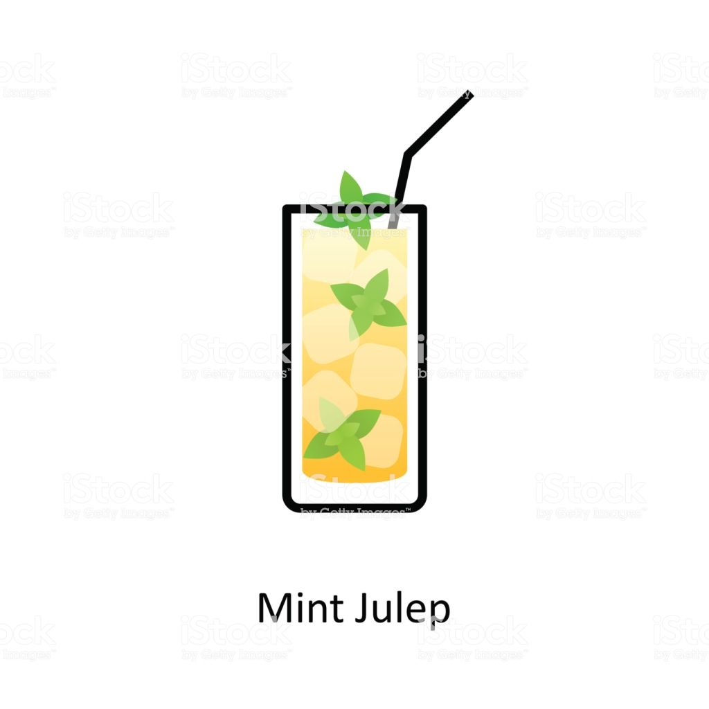 Mint Julep Cocktail Icon In Flat Style Stock Vector Art & More Images of  Alcohol.