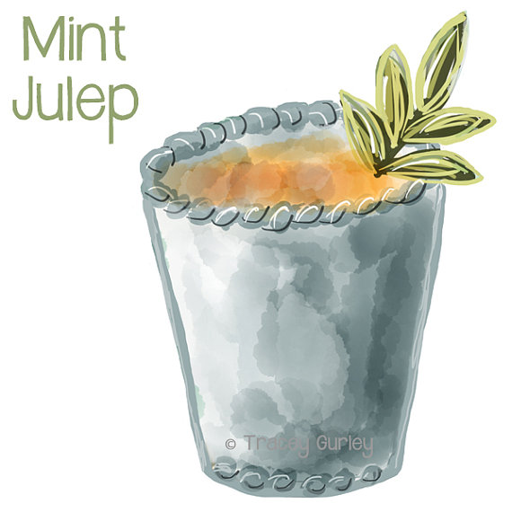 Mint Julep Clipart.