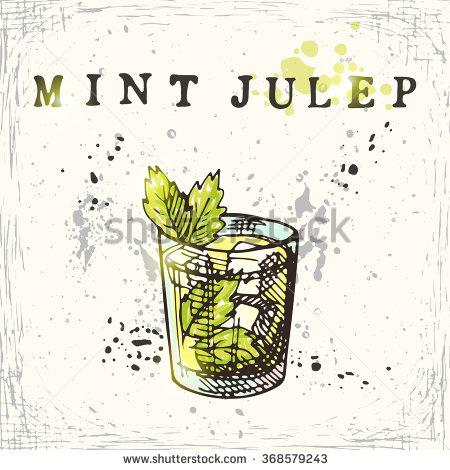 Mint Julep Drink Stock Vectors & Vector Clip Art.