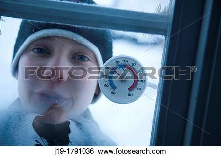 Stock Images of hard winter, minus 18 degrees Celsius, Northern.