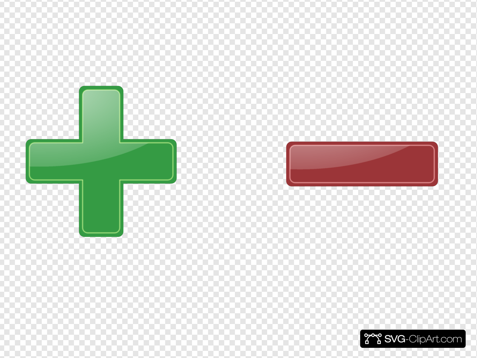 Plus And Minus Clip art, Icon and SVG.