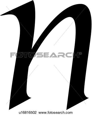Clip Art of , a, alphabet, calligraphy, letter, lowercase, script.