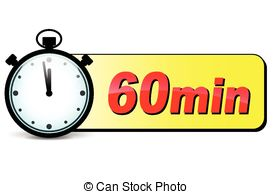 Vector Clipart of Vector one minute stopwatch.