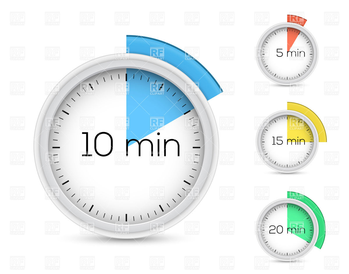 10 Minute Stopwatch Clipart.