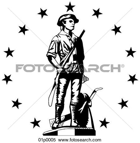 Clipart of minuteman (congress) 01p0005.