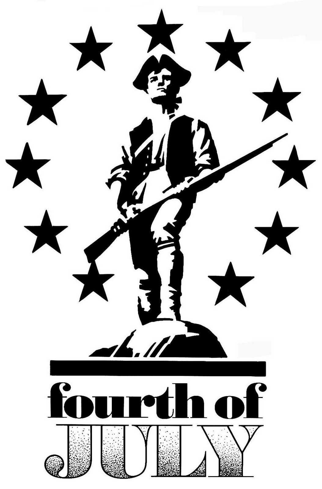 4th of July Minutemen Public Domain Clip Art Photos and Images.