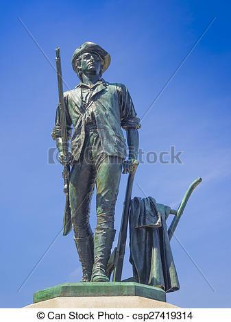 Minuteman statue clipart #13