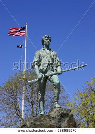 Minuteman statue clipart #11