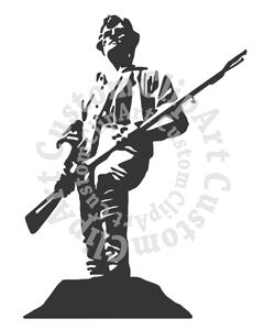Minuteman statue clipart #6