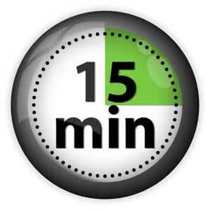 Clip Art 15 Minutes.
