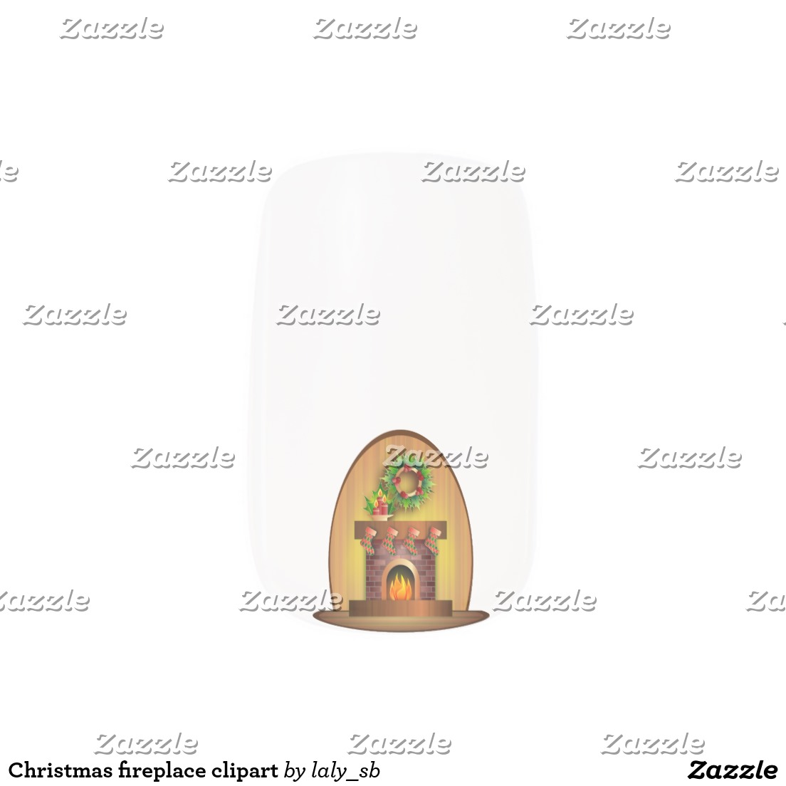 Christmas fireplace clipart minx® nail wraps.