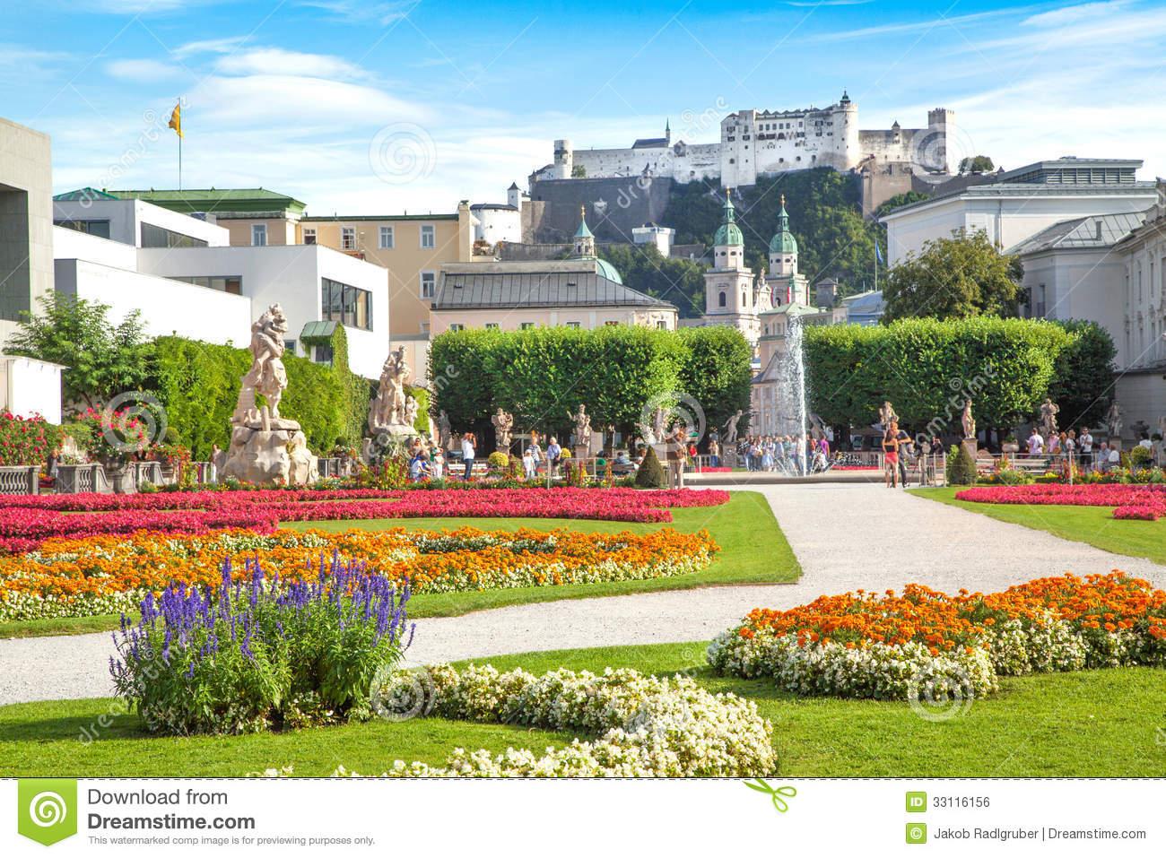 Famous Mirabell Gardens In Salzburg, Austria Royalty Free Stock.
