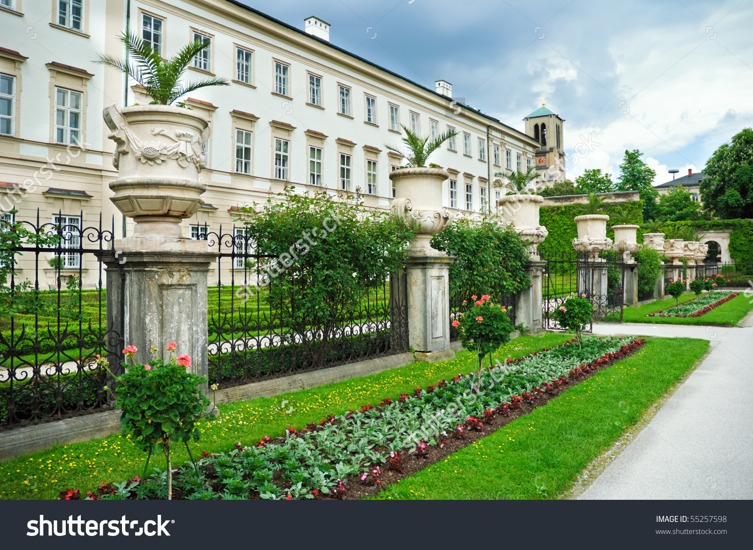 Mirabell Palace Gardens Salzburg Austria Stock Photo 55257598.