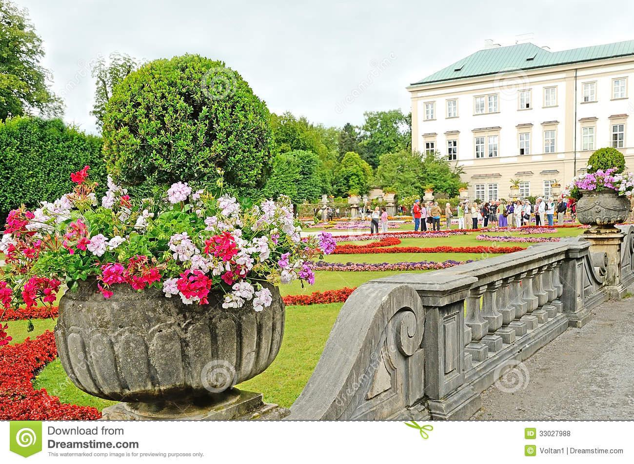 Mirabell Gardens In Salzburg, Austria. Editorial Stock Photo.