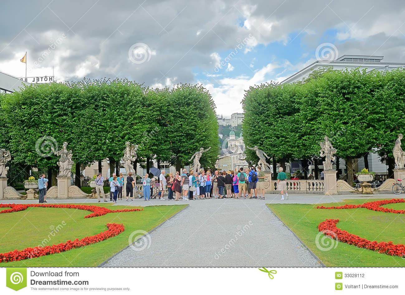 Mirabell Gardens In Salzburg, Austria. Editorial Photography.
