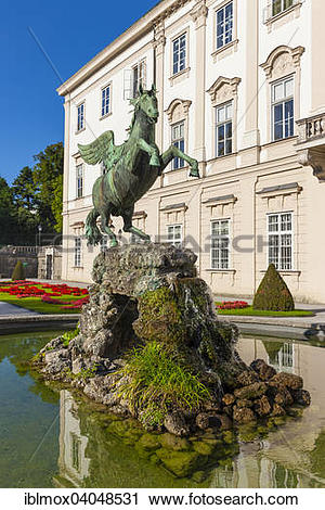 """Stock Photography of """"Mirabell Palace and Mirabell Gardens."""