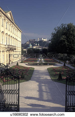 Stock Photo of Austria, Mirabell Palace, Salzburg, View of.