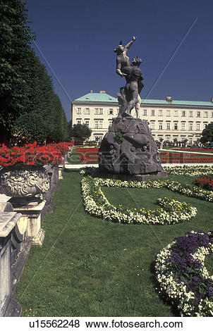 Pictures of Mirabell Palace, Salzburg, Austria, Mirabell Gardens.