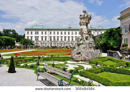 Mirabell Salzburg Gardens Palace Stock Photos, Images, & Pictures.