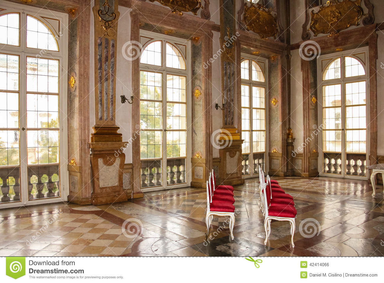 Interior. Marmorsaal. Mirabell Palace. Salzburg. Austria Stock.
