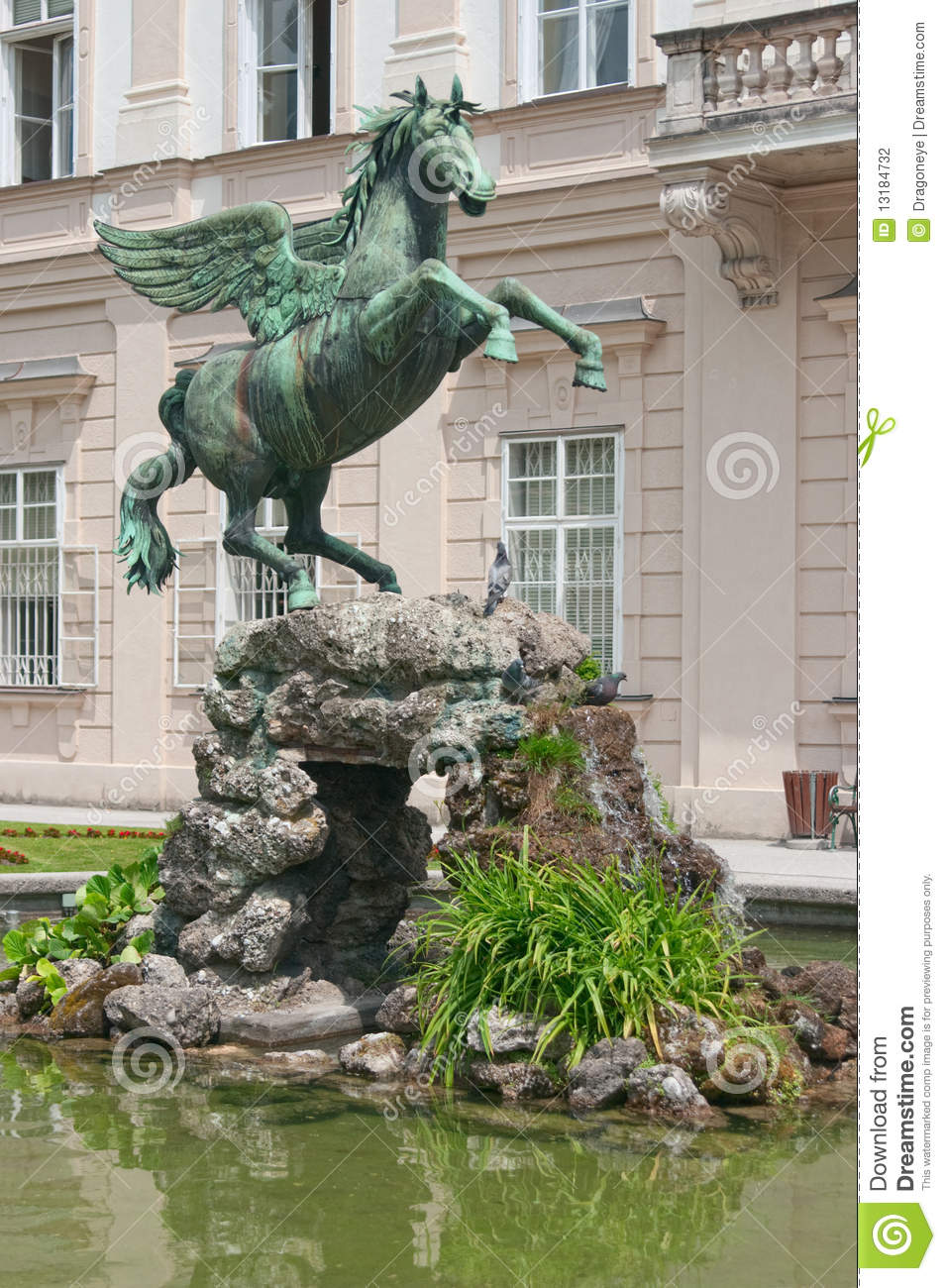 Pegasus Statue In Mirabell Palace Stock Photography.