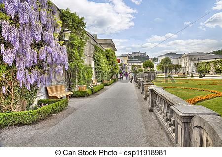 Pictures of Gardens in Mirabell Palace.