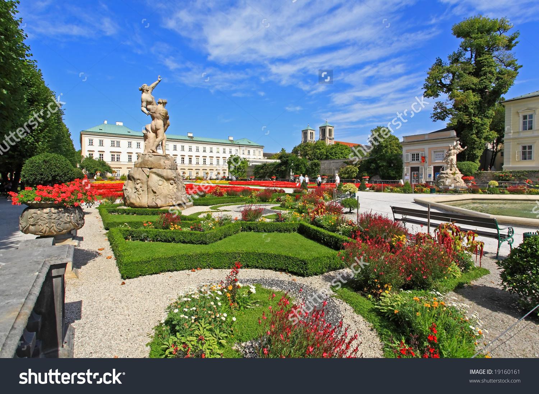 Mirabell Palace Garden Summer Salzburg Austria Stock Photo.