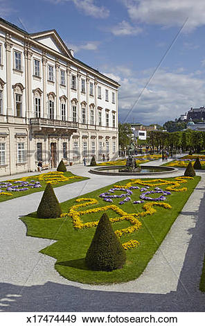 Stock Photograph of Mirabell Palace at midday x17474449.