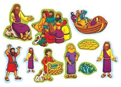 Beginners Bible Miracles of Jesus Felt Figures for Flannel Board Stories  Precut.