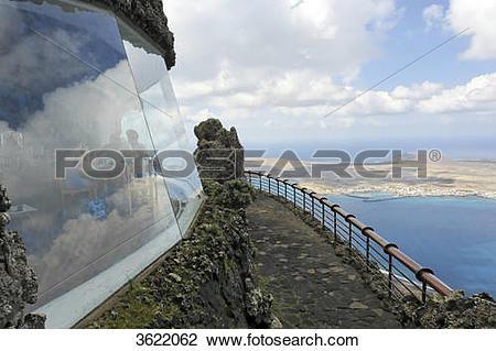 Stock Photo of Mirador del Rio, Lanzarote, Canary Islands, Spain.