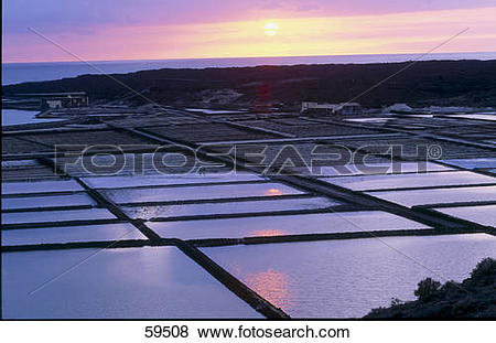 Pictures of High angle view of saltwater, Mirador Del Rio.