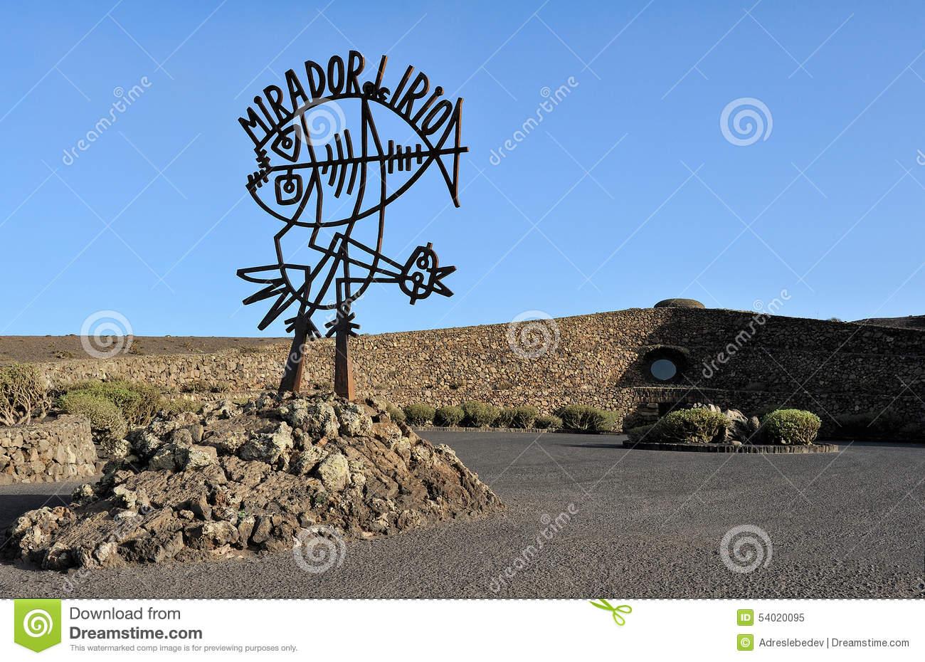 Sculpture By Cesar Manrique Near Mirador Del Rio, Lanzarote Isla.