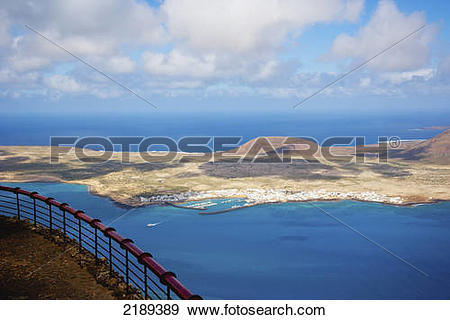Stock Photograph of Mirador Del Rio By Cesar Manrique In Lanzarote.