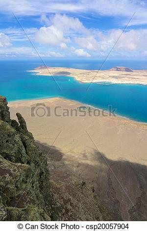 Stock Photography of Lanzarote Mirador del Rio View 020.
