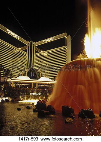Stock Photo of Mirage Hotel and Casino, Las Vegas, Nevada, USA.