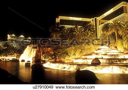 Stock Photograph of Las Vegas, Nevada, The Mirage, casino, NV, The.