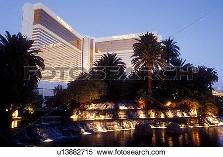 Stock Image of Las Vegas, Nevada, The Mirage, casino, NV, The.