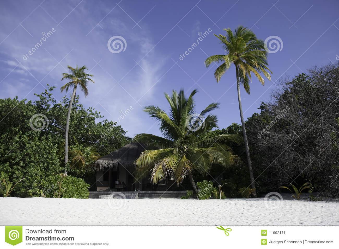Beach Bungalow Clipart.
