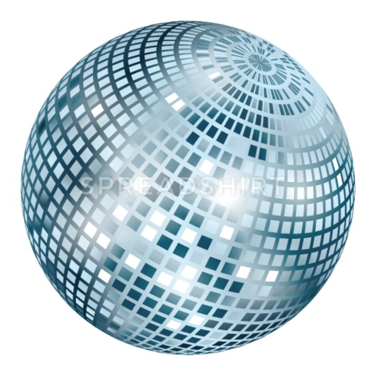 Disco Ball / Mirror Ball Glitter (Silver, PNG) Buttons small 1'' (5.