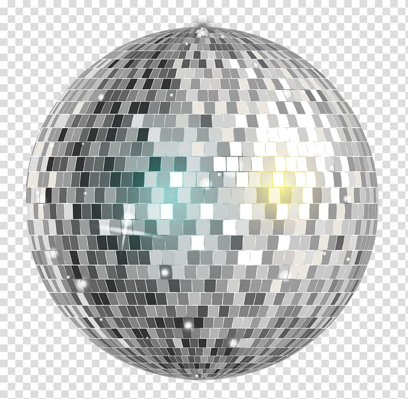 Mirror ball illustration, Disco ball Nightclub, Grey disco.