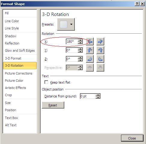 Creating mirror images in PowerPoint.