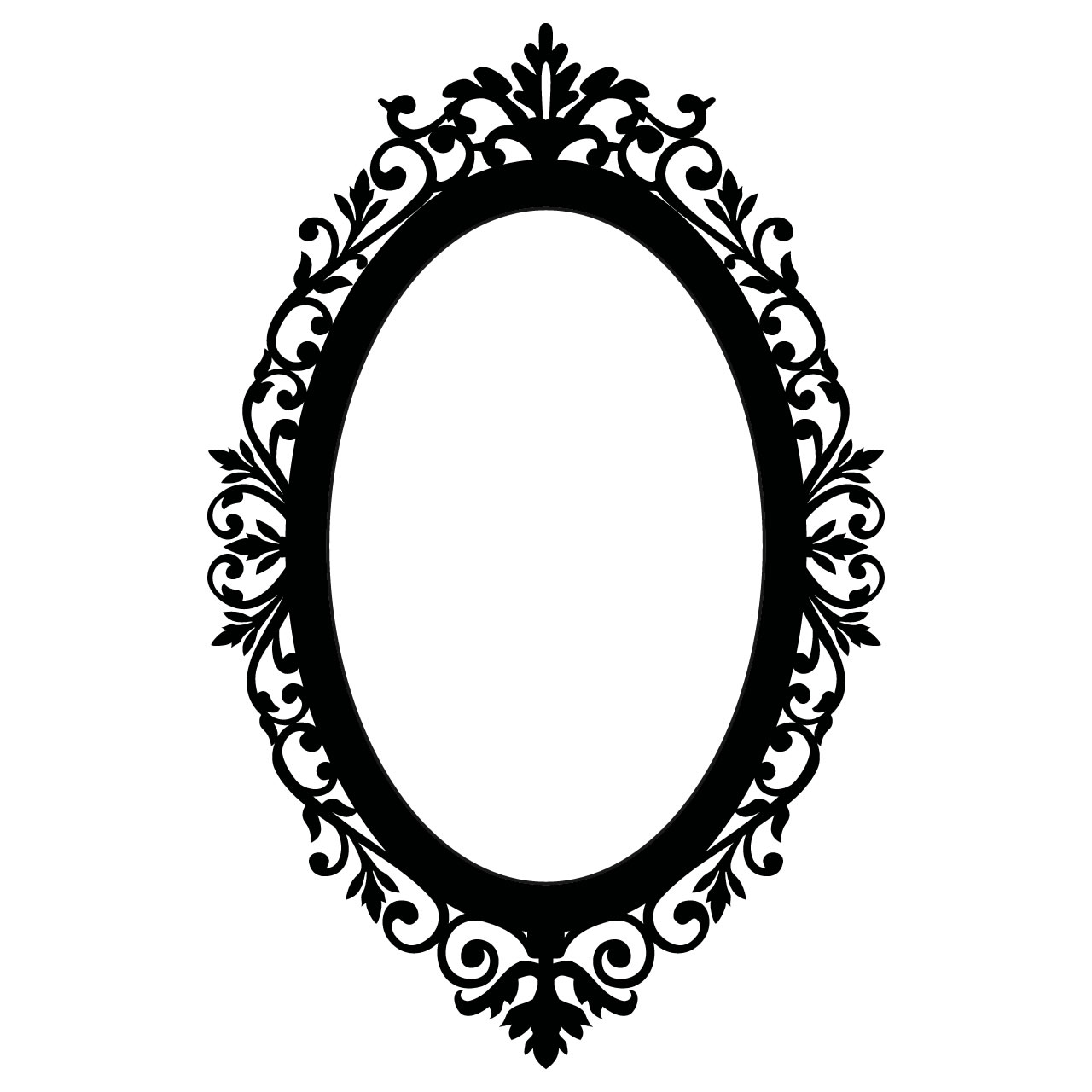 Oval Victorian Frame Clipart #.
