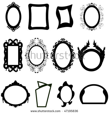 Mirror Silhouette Stock Images, Royalty.