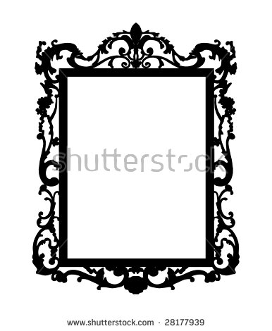 Silhouette Baroque Mirror Stock Vector 28177939.